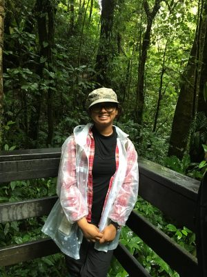 Dipanjana in the cloud forest of Costa Rica.
